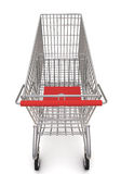 Trolley from the supermarket. 3d rendering on white background Royalty Free Stock Images