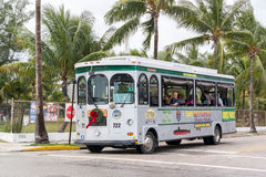 Trolley tour in Key West, Florida, USA Royalty Free Stock Images