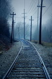 Trolley Track royalty free stock photography