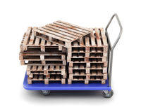 Trolley for transportation of goods with pallets Stock Photography