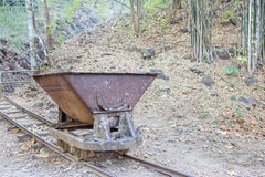 Trolley used in the construction of railways World War II Stock Photos