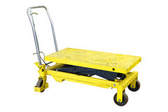 Trolley which used in a car repair station for engine transportation Stock Images