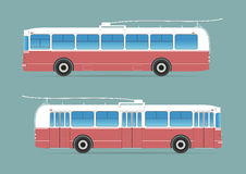 Trolleybus  on background Royalty Free Stock Image
