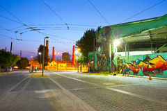 Trolleybus depot in Athens. Stock Image