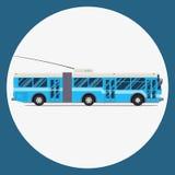 Trolleybus icon flat design. vector city transportation. Stock Image