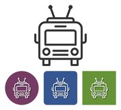 Trolleybus line icon. Trolleybus line  icon in different variants stock illustration