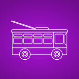 Trolleybus line icon. Vector. Stock Photography