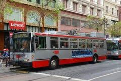 Trolleybus in San Francisco, California Stock Photos