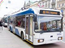 Trolleybus in St. Petersburg Stock Image