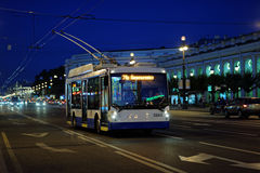 Trolleybus in St. Petersburg, Russia Stock Images
