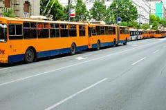 Trolleybus standstill Stock Photo