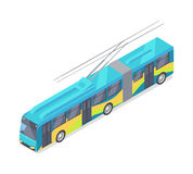 Trolleybus Vector Icon in Isometric Projection Stock Photography