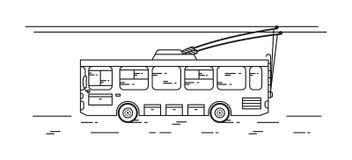 Trolleybus wektoru ilustracja Zdjęcia Stock