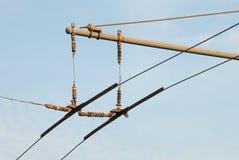 Trolleybus wires Stock Photos