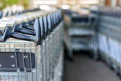 trolleys royaltyfri foto
