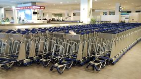 Trolleys in Airport Stock Image