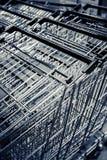 Trolleys. Supermarket basket trolleys pushed together Royalty Free Stock Images