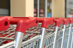 Trolleys from the supermarket. Stock Image