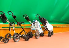 Trolleys for tennis Stock Photos