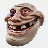 Trollface beaten. Internet troll 3d illustration Stock Photo