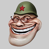 Trollface dans le casque russe Illustration du troll 3d d'Internet Photos libres de droits