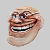 Trollface dark spectacled. Internet troll 3d illustration Stock Images