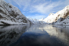 Trollfjord mirrors Royalty Free Stock Images