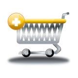 Trolli-Kauf-on-line-Shop-Karikatur-Ikone Lizenzfreie Stockfotografie