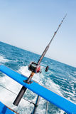 Trolling a motor boat in the Andaman Sea. Fishing trolling a motor boat in the Andaman Sea, Thailand Stock Photo