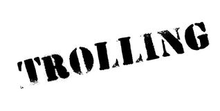 Trolling rubber stamp Stock Photography