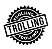 Trolling rubber stamp Stock Image