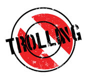 Trolling rubber stamp Royalty Free Stock Photography