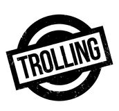 Trolling rubber stamp Royalty Free Stock Images