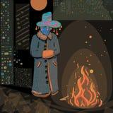 trollkarl vektor illustrationer