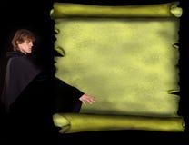 trollkarl för stil för scroll för banergrungeman gammal Royaltyfria Bilder