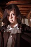 Trollkarlen med vikt beväpnar Fotografering för Bildbyråer