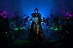 trollkarlkvinna royaltyfri illustrationer