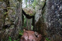 Trollporten i den Skuleskogen nationalparken arkivfoton