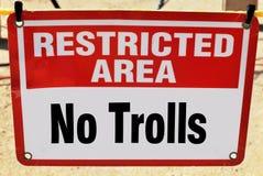 Trolls που επιτρέπεται κανένα Στοκ Εικόνα