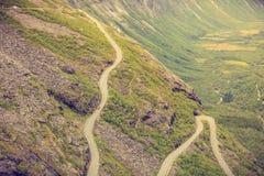 Trolls δρόμος βουνών Trollstigen πορειών στη Νορβηγία Στοκ φωτογραφία με δικαίωμα ελεύθερης χρήσης