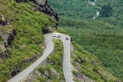 Trolls δρόμος βουνών Trollstigen πορειών στη Νορβηγία Στοκ εικόνα με δικαίωμα ελεύθερης χρήσης