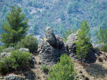Trolls. Rock formations in rural Cyprus Royalty Free Stock Images