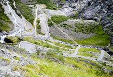 trolls дороги Норвегии Стоковая Фотография