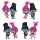 trolls stock de ilustración