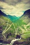 Trolls Path Trollstigen mountain road in Norway Royalty Free Stock Images