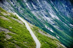 Trolls Path Trollstigen mountain road in Norway Stock Photos