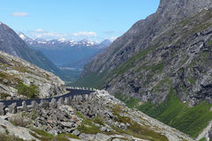 Trolls road, Norway. A famous Trollstigen (Trolls' Road), Norway Royalty Free Stock Photo