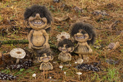 Trolls. Typical smiling Trolls from Norway stock image