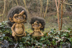 Trolls. Typical smiling Trolls from Norway stock photo