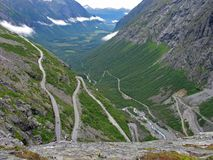 Trollstiegen in Norway stock photography